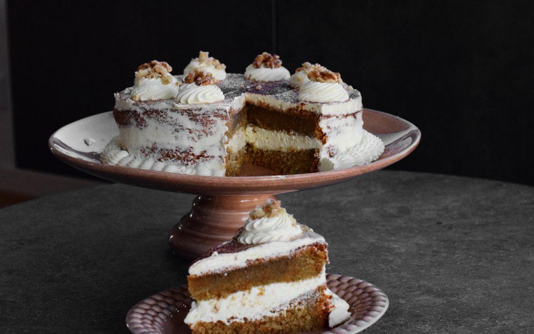 Saftig morotstårta
